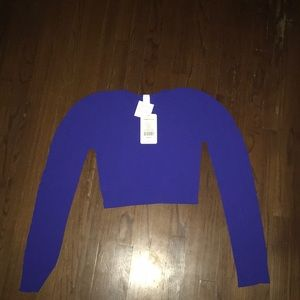 Fabletics Cropped Long-Sleeve Workout Top
